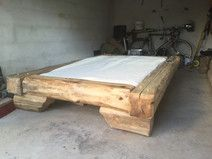 Old wood bed old wood tree edge beam bed old - wood wood bed . Beautiful Bed Designs, Barn Board Projects, Homemade Beds, Diy Bett, Log Furniture, Wood Tree, Wood Beds, Man Room, Rustic Industrial
