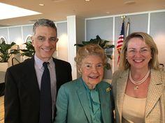 John Schlafly, Phyllis Schlafly, and Maureen Murphy, Naples, Florida, 3-11-16