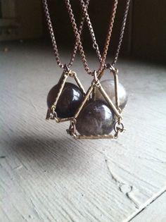 Crystal Ball Necklace Pendant Necklace Quartz by daniellerosebean