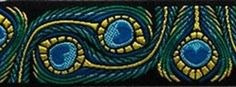 10 Yard Lot 1 Black Blue Green Peacock 5265 by celtictrims Peacock Tail, Green Peacock, Peafowl, Sewing Trim, Fabric Shop, Celtic, Blue Green, Turquoise, Crafty