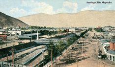 Old Pictures, Railroad Tracks, Vintage, Social Stories, Santiago, Historical Photos, Antique Photos, Urban, Fotografia