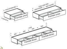 Contemporary modular bedside Midori Arredo Design Online