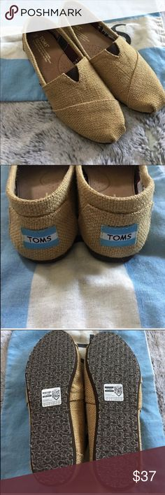 Burlap TOMS - NEW! Reposhing because these didn't fit. Brand new, perfect condition. Toms Shoes