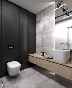 Contemporary Bathroom Interior Design Luxury Łazienka Styl nowoczesny Łazienka Zdjęcie Od Studio Pracownia – Most Popular Modern Bathroom Design Ideas for 2019 Washroom Design, Toilet Design, Modern Bathroom Design, Bathroom Interior Design, Bathroom Layout, Bathroom Colors, Bathroom Ideas, Colorful Bathroom, Bathroom Remodeling