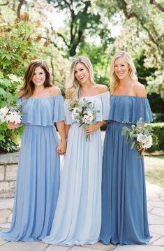 Off the Shoulder Bridesmaid Dresses, Ruffled Bridesmaid Dresses,#BridalDresses #WeddingGowns #Wedding #WeddingDresses