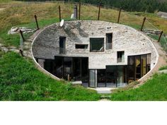 Stone Faced Concave EarthHouse