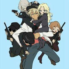 Watch anime online in English. Magic Kaito, Sherlock Holmes, Detective Conan Gin, Super Manga, Manga Anime, Anime Art, Bourbon, Detective Conan Wallpapers, Kaito Kid