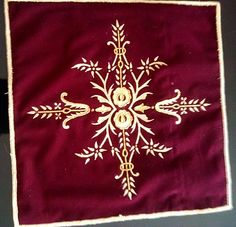 Kadife üzerine boyama, berjer yastığı