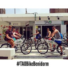 These guys from #uk are discovering #benidorm & #altea with our #taobike enjoying this amazing & sunny afternoon!! Thank you for your visit!! #ecotourism #responsibletourism #bicicletaselectricas #electricbikes #cyclehire #bikerental #alquilerbicis  #benidormnolimits