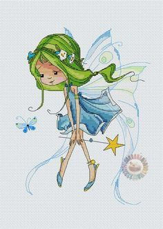 Another sweet cartoon type fairy from a very large set..i don't know the designer...