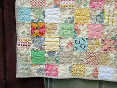 Whisper, quilted by StitchedInColor, via Flickr: lovely soft colours