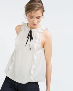 TOP WITH BOW-View all-Tops-WOMAN | ZARA Hungary