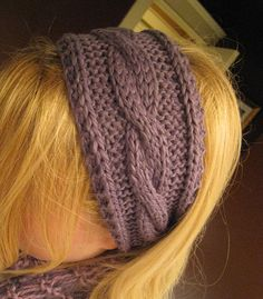 Knitted - Irish Hiking Ear Warmers - Free pattern - Downloaded and printed - I knitted this headband :-)