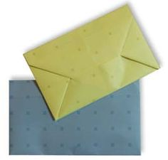 Origami Envelope  http://www.en.origami-club.com/rectangular/envelope/anime-envelope/index.html