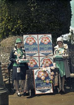 Women selling Queen Alexandra roses for charity, in Seaford, East Sussex. 1928 Image: Clifton R. Adams National Geographic Creative/Corbis