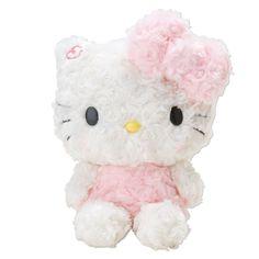 Hello Kitty Plush Doll Rose Boa Fluffy S Small Size SANRIO JAPAN