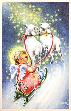Julkort av Marie. Från 1950-talet.