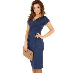 561ed5989a62e Elegant Celebrity Cotton Bodycon Sheath Pregnant Dress   Price   19.42   amp  FREE Shipping