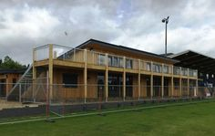 Timber Sports Pavilion in Oxfordshire.  Looking forward to taking the fencing down so we can fully appreciate this lovely building