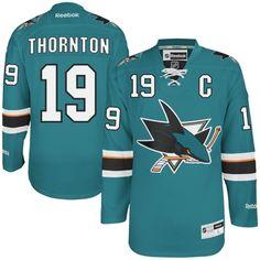 Reebok Joe Thornton San Jose Sharks Premier Player Jersey - Teal