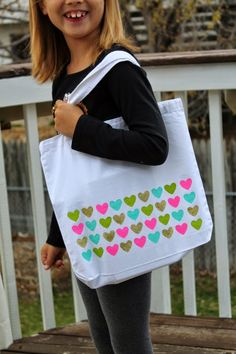 According to L: DIY Painted Tote Bag {and giveaway}