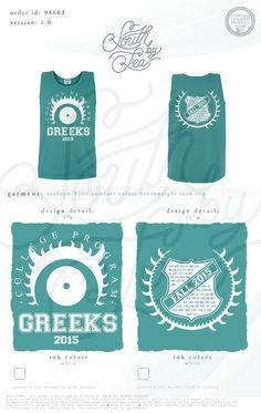 Go Greek | Greek Tanks | South by Sea | Sorority Shirts | Sorority Tanks | Greek Shirts