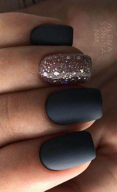 99+ Trending Black Nails Art Manicure Ideas -   - #AcrylicNails #Art #black #ChristmasNails #ideas #manicure #nails #PrettyNails #SummerNails #trending