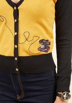 To Dial For Cardigan. Call upon a superlative topper to complete your ensemble…