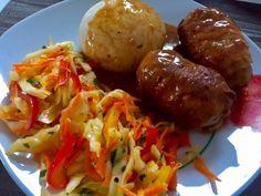 Zawijane zraziki z mięsa mielonego - Blog z apetytem My Favorite Food, Favorite Recipes, I Foods, Baked Potato, Food And Drink, Potatoes, Beef, Chicken, Baking