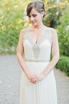 Vintage inspired beading: http://www.stylemepretty.com/california-weddings/calistoga/2015/07/02/elegant-intimate-napa-valley-summer-wedding/   Photography: Onelove Photography - http://www.onelove-photo.com/