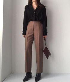 K Fashion Work Fashion - Fashion Trends Korean Outfits, Mode Outfits, Outfits For Teens, Chic Outfits, Fashion Outfits, Work Fashion, Cute Fashion, Fashion Beauty, Fashion Fashion