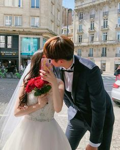 Ive been searching for a girl thats just like you Couple Wedding Dress, Wedding Couples, Cute Couples, Wedding Dresses, Cute Korean, Korean Girl, Asian Girl, Japanese Couple, Korean Couple