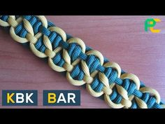 How to Tie a KBK Bar Paracord Bracelet without buckle - YouTube