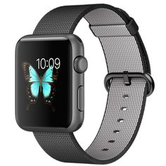 Apple Watch Sport - 42mm Space Gray Aluminum Case with Black Woven Nylon - Apple