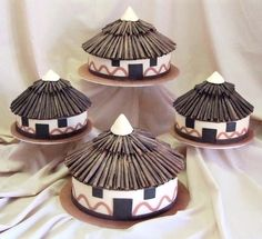 Adorable African Wedding Cake Ideas That You Will Love For Your Inspirations - How to plan an African Inspired Wedding on a Budget Many African American couples like the idea of incorporating their heritage into their wedding nup. African Wedding Cakes, African Wedding Theme, African Theme, African Weddings, African Hut, Nigerian Weddings, African Attire, African Dress, Traditional Wedding Decor