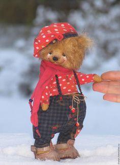 Купить мишка тедди Мухомор - мишка ручной работы, мишка тедди, подарок девушке