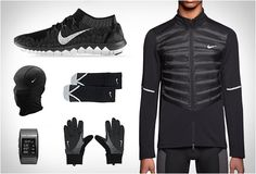 NIKE CROSSTOWN RUNNING ESSENTIALS | Image - I love running in black and I'm sure I would look amazing in this ,o)