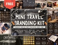 Confira este projeto do @Behance: \u201cFREE - MINI TRAVEL BRANDING KIT\u201d https://www.behance.net/gallery/54447749/FREE-MINI-TRAVEL-BRANDING-KIT