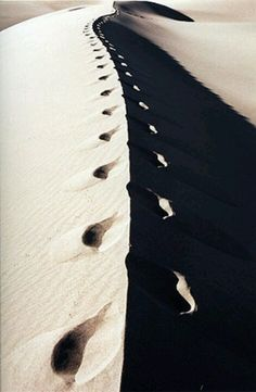 Cammino da sola nel deserto...