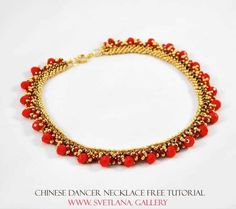 "Double Spiral Free Tutorial for ""Chinese Dancer"" Beaded Necklace in Just 6 Steps - Svetlana.Gallery Blog"