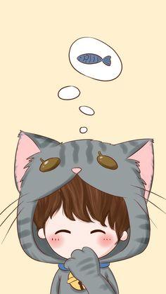 y el gatito en su conejita =3 kiss