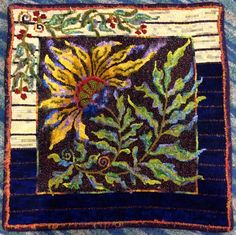 Gorgeous rug hooking done by Carol Feeney