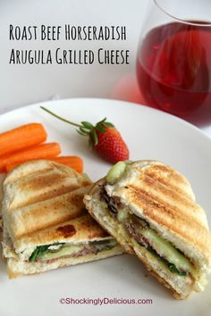 Roast Beef Horseradish Arugula Grilled Cheese | www.ShockinglyDelicious.com National Grilled Cheese Month!  #SundaySupper