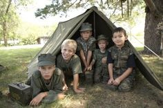 Love this easy military surplus tent. My boys put it up in their room, the backyard, and take it on playdates. Actually LOVE this entire store for boys.