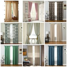 Drapery and Curtains I Fabric Window Treatment Ideas | bE Home