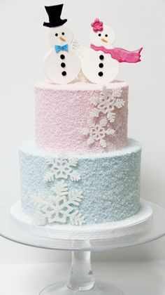 Winter ONEderland cake - maybe with 2 penguins or polar bears on top :)