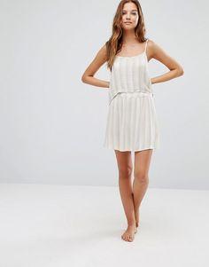 Akasa | Akasa Double Layer Stripe Beach Dress