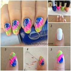Colorful Tie-Dye Style for Painted Nails | www.ladylifehacks.com