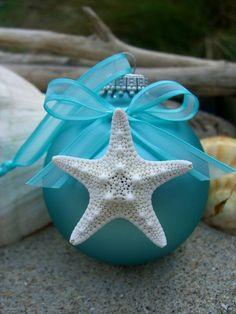 Grab Your Glue Gun ! Cute Coastal Ornament Idea ! From Saltnseacreations