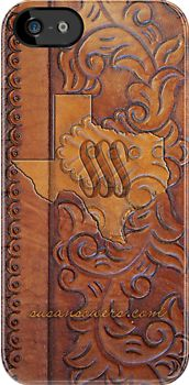 Texas Leather by Susan Sowers http://www.redbubble.com/people/sssowers/works/8185961-texas-leather?c=116615-iphone-and-ipod-cases